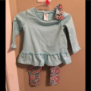 Carters girls 12 month long sleeve outfit